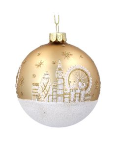 Gold London Skyline Bauble