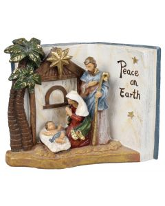 Peace on Earth Book Nativity Scene