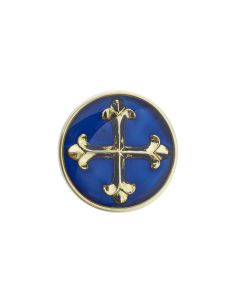 Patonce Cross Enamelled Pin