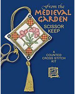 Medieval Garden Scissor Keep Cross Stitch Kit