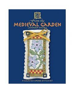 Medieval Garden Lavender Sachet Cross Stitch Kit