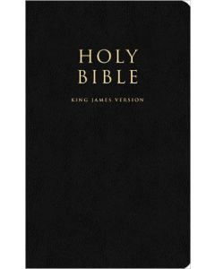 Black Leather King James Bible (Slipcased)