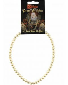 Tudor Inspired Faux Pearl Necklace