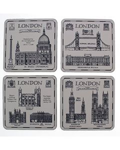 London Heritage Pack of Four Coasters