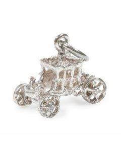 Sterling Silver State Coach Charm