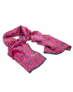 Rory Hutton Pink Chapter Tiles Silk Scarf