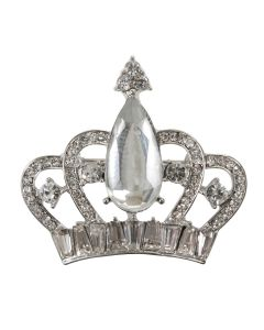 Teardrop Crown Brooch