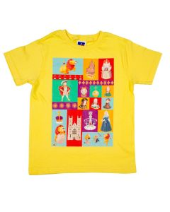 Westminster Abbey Kings & Queens Children's T-shirt Yellow