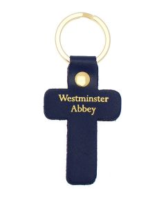 Westminster Abbey Leather Cross Keyring