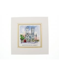 Westminster Abbey Mini Mounted Print