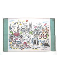 Westminster Abbey Scenes of London Tea Towel