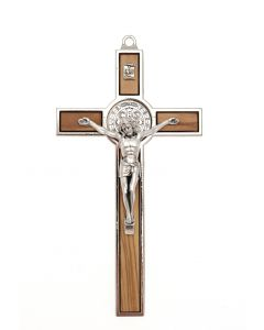 Wooden Benedict Hanging Cross