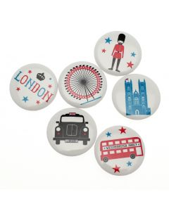 Westminster Abbey London Icons Badge Set of Six