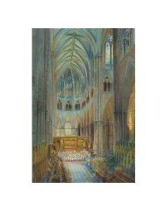 Carol Service by Alexander Creswell Personalised Christmas Card