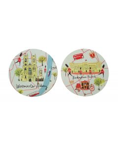 Westminster Abbey London Map Coaster Set