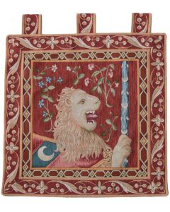 Cluny Lion Square Tapestry Wall Hanging