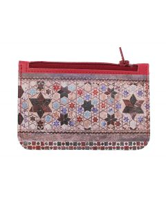 Cosmati Pavement Leather Coin Purse