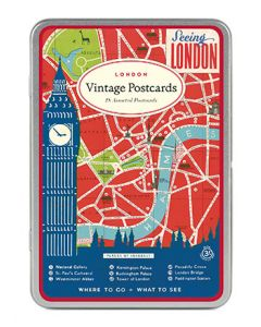 London Postcard Tin