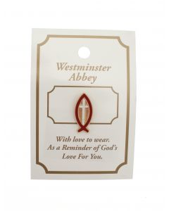 Westminster Abbey Fish and Cross Pin