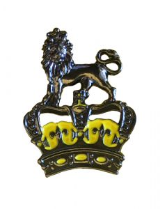 Crown and Lion Pin Badge