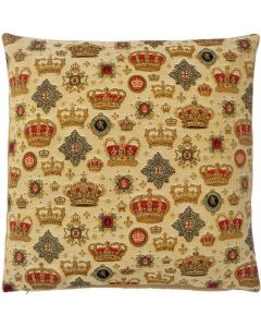 Crown 48cm Tapestry Cushion Cover