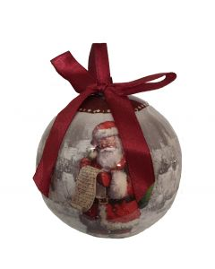 Decoupage Father Christmas Decoration