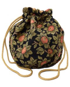 Orange Tree Tapestry Drawstring Bag