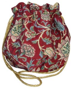 Red Evenlode Tapestry Drawstring Bag