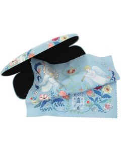 Floral Abbey Glasses Case