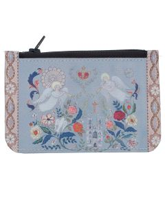Floral Abbey Leather Coin Purse