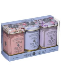 Floral Triple Tea Tin Set