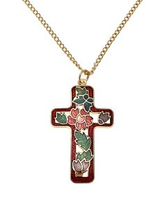 Westminster Abbey Enamel Flower Cross