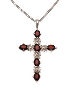 Silver and Garnet Cross