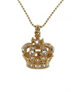 Large Gold Crown Necklace