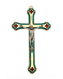 Coloured Metal Hanging Cross