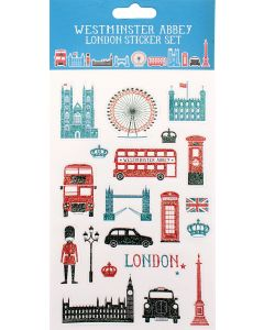 Westminster Abbey London Icons Sticker Set