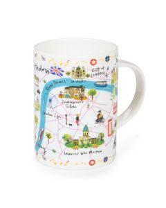 Westminster Abbey London Map Mug