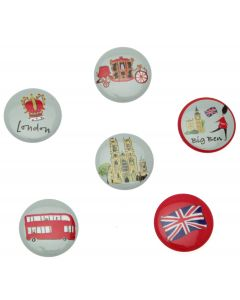 Westminster Abbey London Map Badge Set