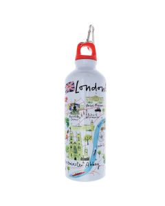 Westminster Abbey London Map Water Bottle