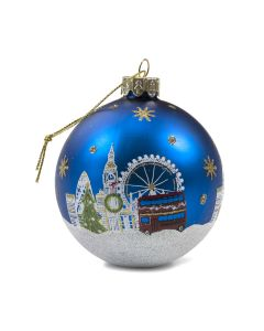 London Painted Glass Bauble