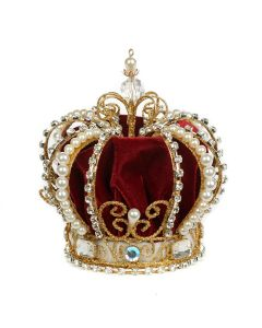 Red Royal Crown Christmas Tree Topper Small