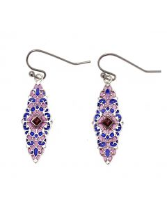 Medieval Stained Glass Drop Earrings