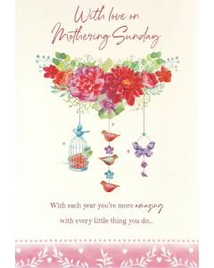 Mother's Day Flowers & Charms Card