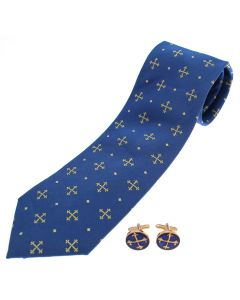 St Edward's Cross Silk Tie & Cufflinks Set