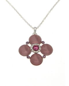 Pink Cabochon Necklace