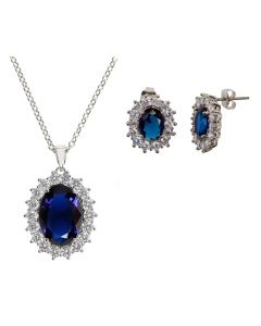 Kate Middleton Replica Engagement Necklace and Earrings set