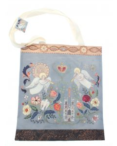 Floral Abbey Canvas Tote Bag