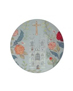 Floral Abbey Glass Coaster