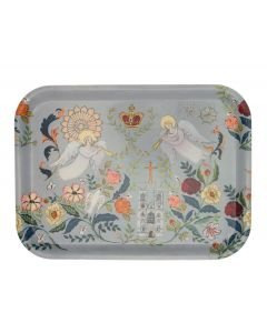Floral Abbey Wooden Tray
