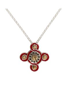 Silver and Enamel Cosmati Pavement Necklace